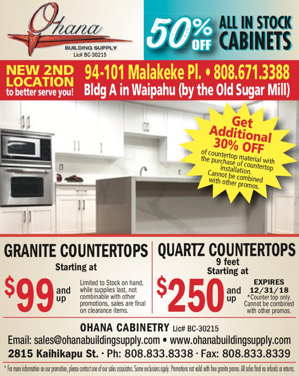 Special Savings   Ohana Building Supply